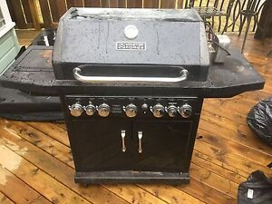 Natural gas BBQ with rotisserie