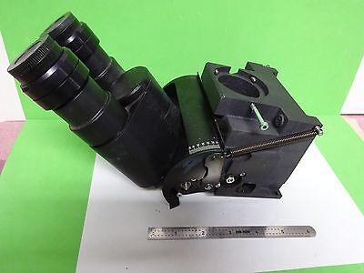 Microscope Part Reichert Leica Polylite Head Eyepieces Optics As Is Bna1-n-98