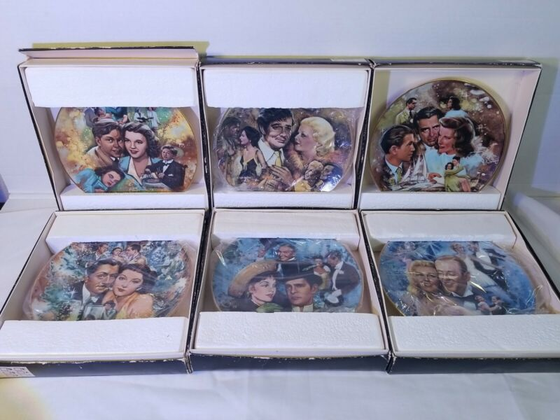 THE GOLDEN AGE OF CINEMA LTD.COLLECTOR PORCELAIN PLATES W/COA BY ROYAL CORNWALL