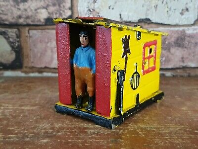 COLLECTABLE CAST IRON SHACK/SHED BANK MONEYBOX