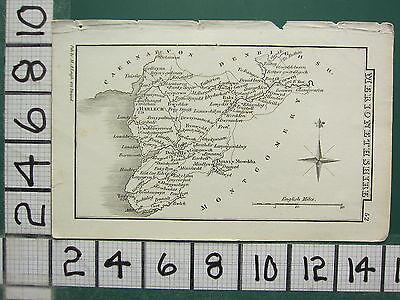 c1833 GEORGIAN MAP ~ MERIONETHSHIRE ~ HARLECH DINASY MOWDDU BALA