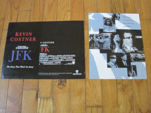 JFK Movie Pressbook Video Store Display Promo Ad film Oliver Stone Kevin Costner