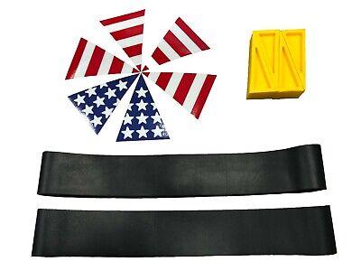 Firefighter Helmet Tool Kit - Sprinkler Wedges - Helmet Bands - Usa Flag Decals