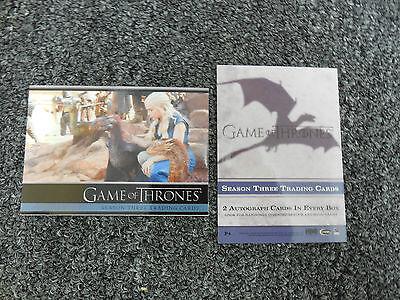 2014 Spring Non Sports Philly Card Show Game of Thrones Season Three Promo P4