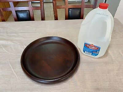 Vintage Rare Wooden, Lightweight Solid Wood Tray Platter, Curved Round Edge