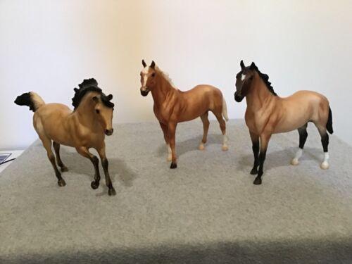 Breyer Horses Mixed Lot of 3 Lovely Buckskin / Palomino Models (#Bsk-4)