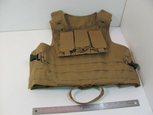 AIRSOFT PAINBALL TACTICAL VEST ONE SIZE TAN