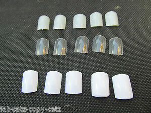 100-x-FALSE-TOE-NAILS-FULL-COVERAGE-10-SIZES-CLEAR-WHITE-or-NATURAL-UK-SELLER