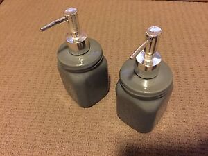 2 soap dispensers