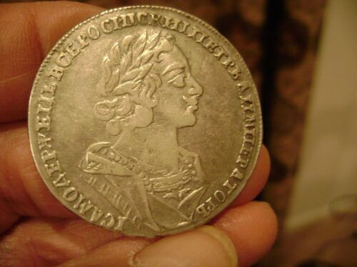 "RUSSIA,  ""PETER  THE  GREAT""  1725  ROUBLE,  KM 1625,  CHOICE  CONDITION"