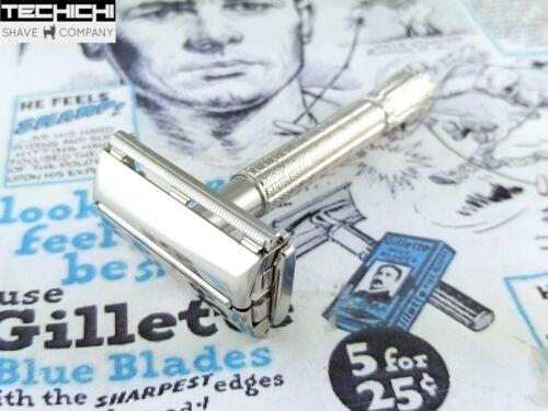 1957 C4 Gillette Flare Tip Super Speed Vintage Double Edge Shaving Safety Razor