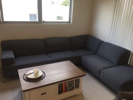 L shape 8 seater couch excellent condition