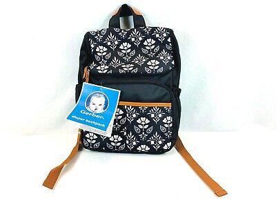 GERBER Diaper Backpack Floral Design - Insulated Pocket - Stroller Straps - NEW Gerber Diaper Bag