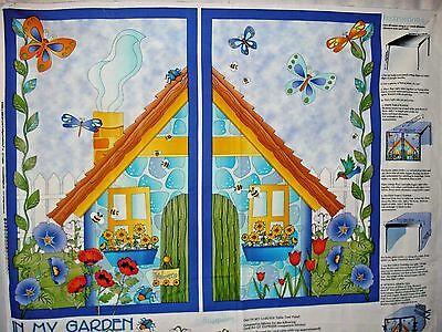 Baumwolle Quilt Stoff in Mein Gartentisch Zelt Panel Smith / Milligan 88.9cm X ()