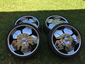 20 inch chrome multi stud rims & tyres Murarrie Brisbane South East Preview