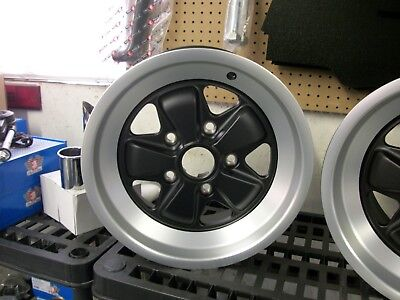Porsche Fuchs Wheel 15 x 7- NEW  ET23.3 Matte Black Finish