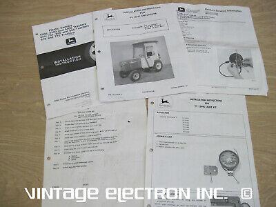 John Deere - Instruction Sheet Lot For 755 855 Etc Canopy Enclosure Lamp Etc