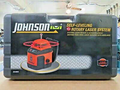 Johnson 40-6543 Self Leveling Rotary Laser Kit With Greenbrite Technology