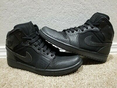 Nike Air Jordan 1 Phat Black/ Black Fiber Shoes Size 8 Shoes For Men/Boys