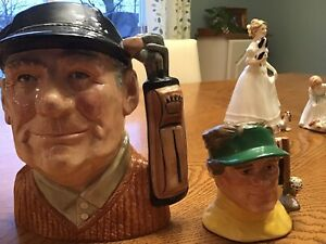 Royal,doulton  golf tolby jugs