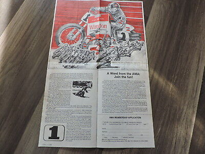 Winston Road America AMA Motor Cycle Races 1980 Schedule Collectible