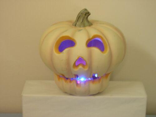 Vintage Halloween Blow Mold Color Changing LED Pumpkin Jack O Lantern Light COOL