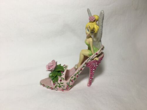 """""""DISNEY"""" TINKERBELL GARDEN OF STYLE SHOE COLLECTION ROSE PETAL PIXIE FIGURINE"""