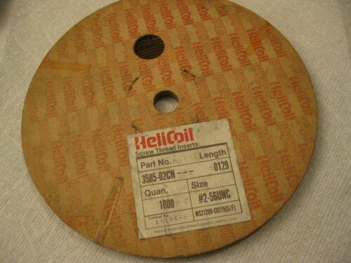 "#2-56 x .129"" Helicoil Screw-Locking Thread Insert 1000pc Roll"