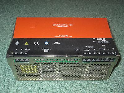 Weidmuller 8778870000 Power Supply 500w 24v 20a Input 100-120vac 200 Din-rail