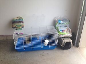 Everything you need for pet rabbit!  Good deal!!