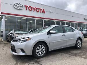 2015 Toyota Corolla LE, Local One Owner Trade, Back Up Camera