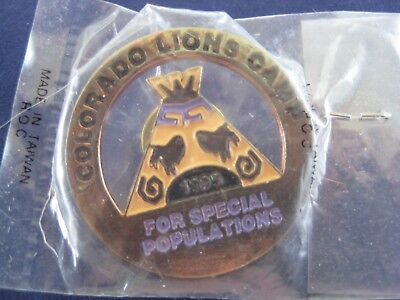 Lions Club Colorado Lions Camp for Special Populations 1995 Pin in Wrapping