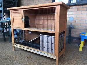 Rabbit Hutch Ferret Cage Small Animal 2 Storey Hutch plus extras Ethelton Port Adelaide Area Preview
