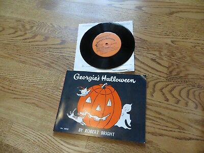 Georgie's Halloween Book and 33 1/2 RPM Record by Robert Bright Georgie Ghost