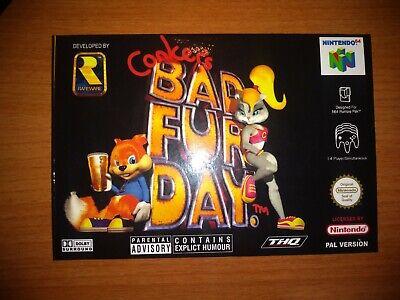 Conker's Bad Fur Day PAL NINTENDO 64 - N64 - Retro