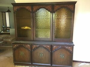 Vintage Buffet Hutch Sideboard Retro Large Amber Glass Glen Waverley Monash Area Preview