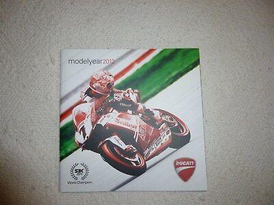 DUCATI MOTORCYCLE BROCHURE RANGE 2012 64 PAGE BOOK UK & ITA
