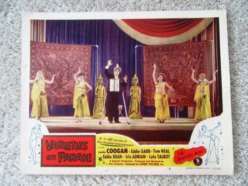 VARIETIES ON PARADE ORIGINAL 1951 LC #8 11X14 VG