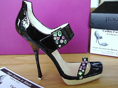 Just The Right Shoe - High Drama In Black, Carlton Cards Exclusive