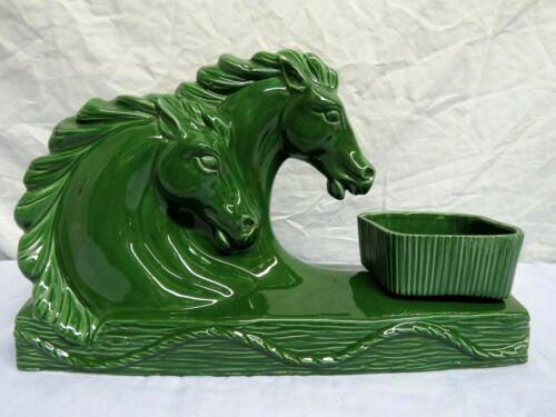 Vintage Mid Century Modern HORSE Head TV LAMP Green w/Planter insert 1960s MCM
