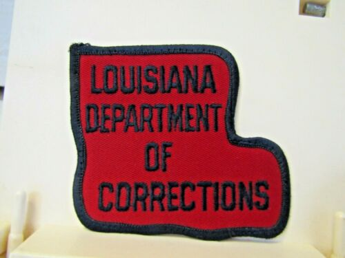 """Louisiana Department of Corrections LA patch new NOS 4"""" red"""