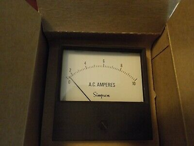 Vintage Simpson Panel Meter Model 2153 - 0-10 Ac Amp