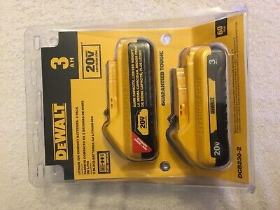 New Dewalt DCB230-2 20V Volt Max 3.0Ah Lithium Ion Batteries 2-Pack (NIB)