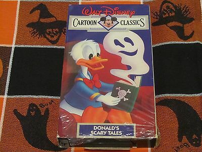 WALT DISNEY'S CARTOON CLASSICS~DONALD'S SCARY TALES~VOL. #13 VHS VIDEO~HALLOWEEN - Halloween Cartoons Scary