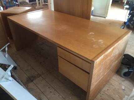 ***BARGAIN!!***Large SOLID WOODEN DESKS with draws***