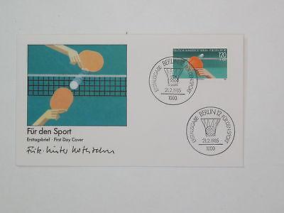 (k733) Berlin Schmuck FDC Michel Nr. 733 Sport 1985 Tischtennis