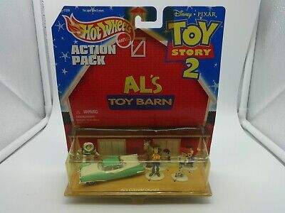 """Hot Wheels Action Pack """"Toy Story 2"""" Al's Toy Barn w/ Custom Cruiser & 5 Figures"""
