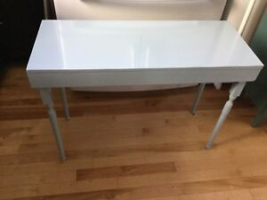 Blue accent low table