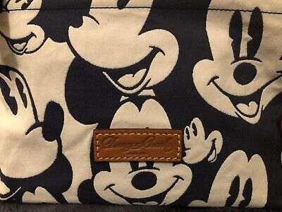 Disney Dooney and Bourke Mickey Mouse Mini Canvas Pouchette