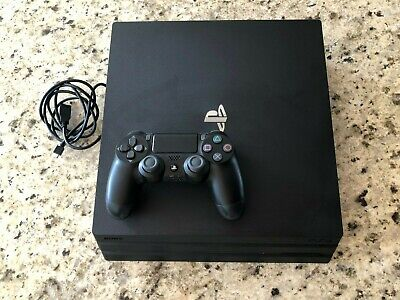 SONY PlayStation 4 PS4 Pro 1TB Console Black (w/ Controller & Cables)